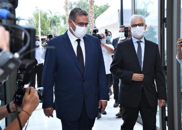 Rabat : Rencontre entre M. Aziz Akhannouch et le secrétaire général du parti de l'Istiqlal (PI) , M. Nizar Baraka